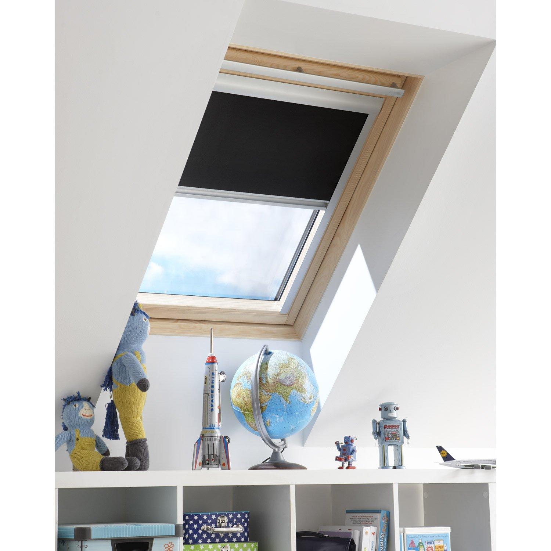 store fen tre de toit occultant noir noir n 0 artens leroy merlin. Black Bedroom Furniture Sets. Home Design Ideas
