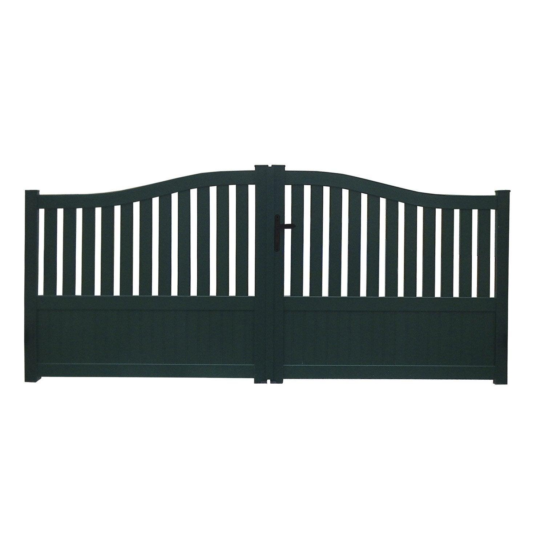 portail battant aluminium moellan vert naterial cm. Black Bedroom Furniture Sets. Home Design Ideas
