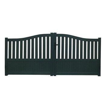 Portail bois alu fer portail portillon et for Portillon fer vert