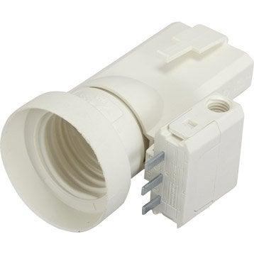Fiche DCL et douille électrique à vis E27 polyamide, blanc