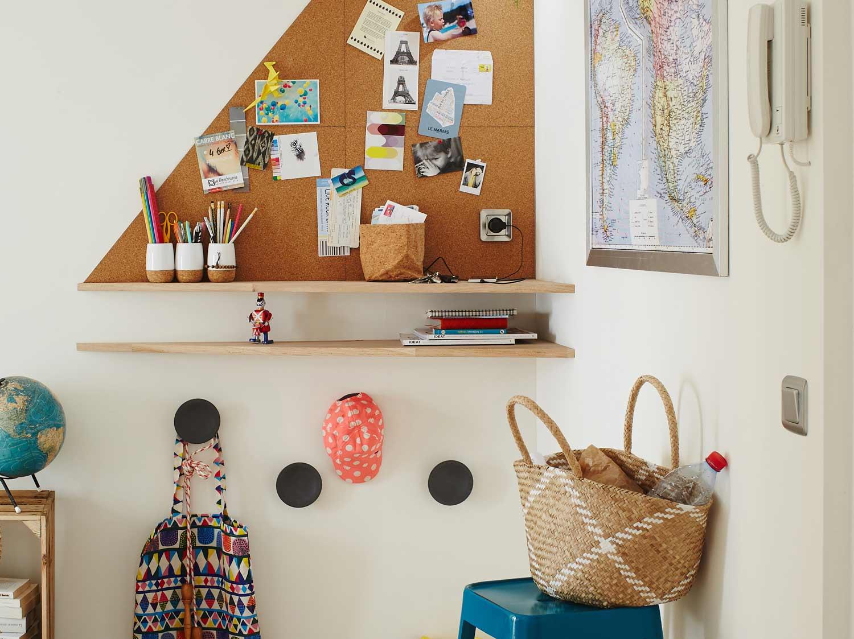 Créer un coin bureau dans l'entrée