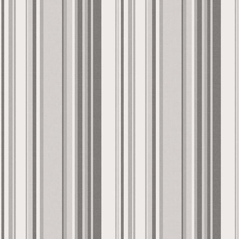 Papier peint intissé GLOBE TROTTER Rayures gris