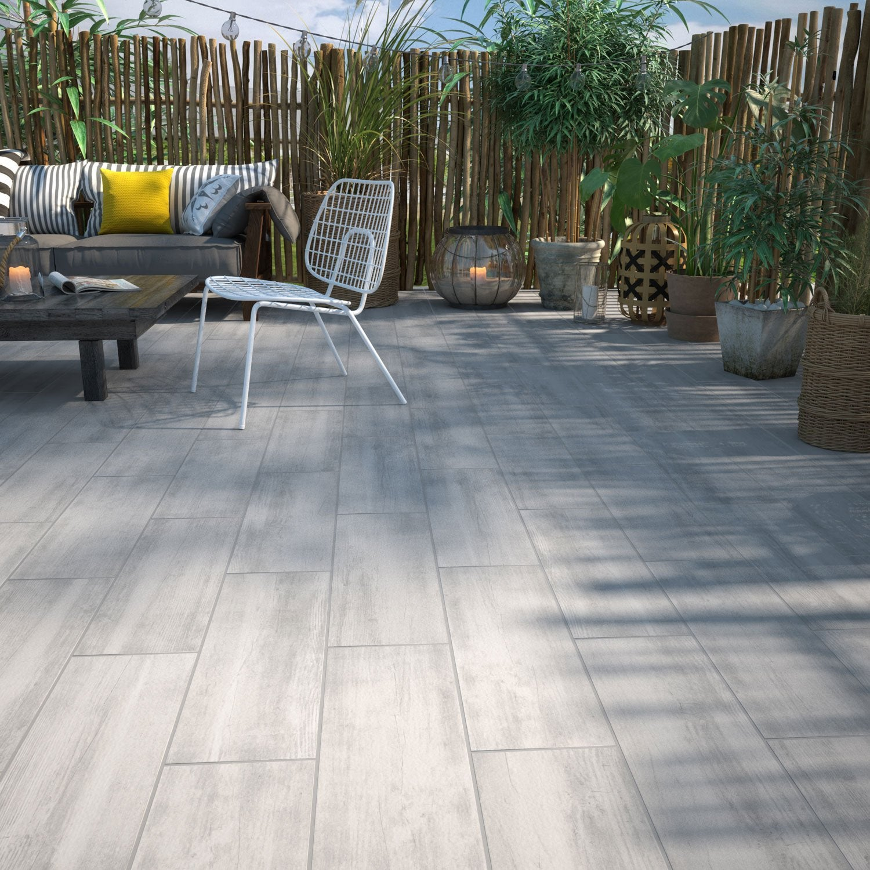 carrelage sol ext rieur forte effet bois blanc apero. Black Bedroom Furniture Sets. Home Design Ideas