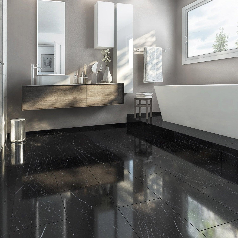 carrelage sol et mur noir effet marbre rimini x cm leroy merlin. Black Bedroom Furniture Sets. Home Design Ideas