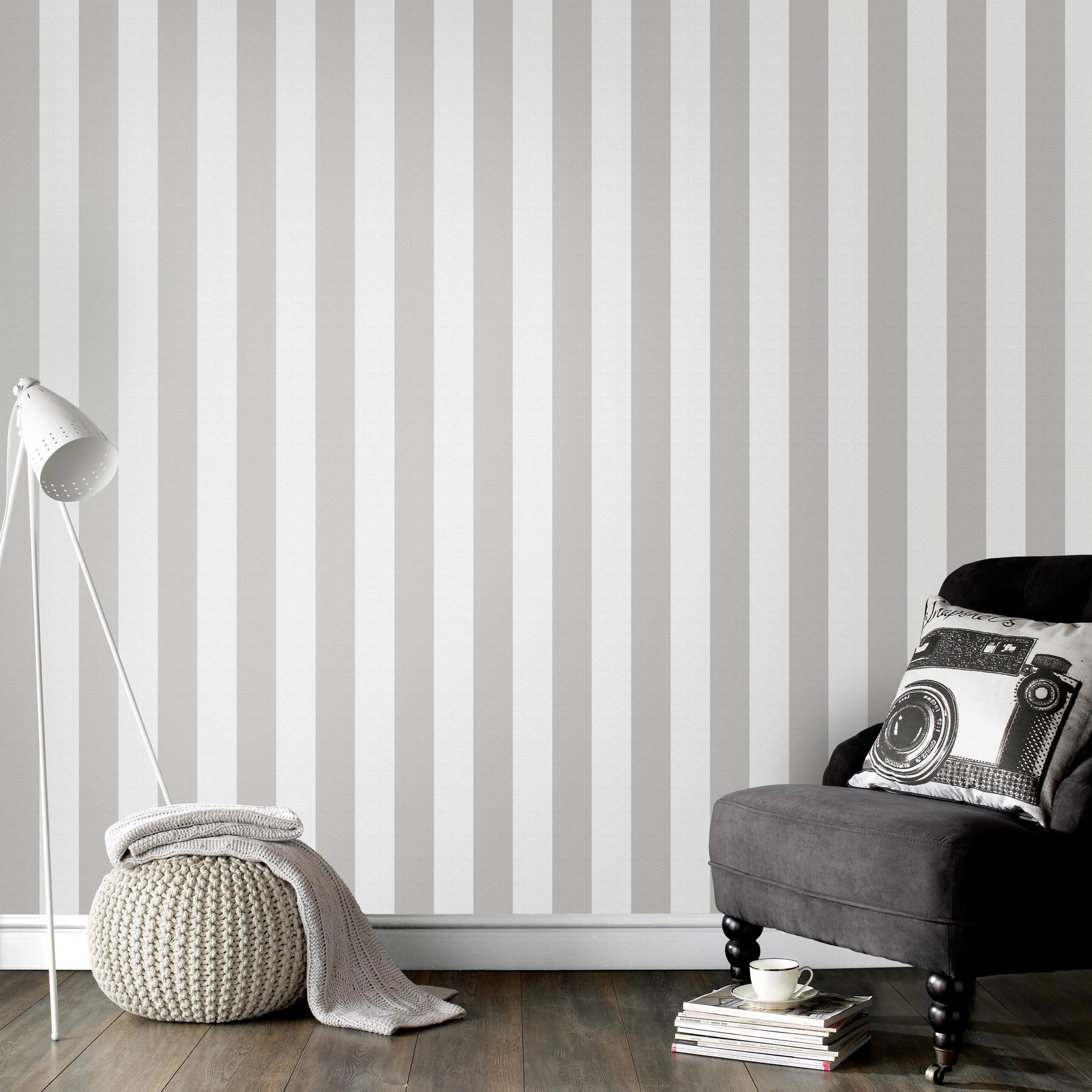 Papier Peint A Rayure Gris Et Blanc papier peint vinyle petites rayures gris/blanc
