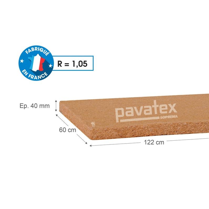 10 Panneaux Fibre De Bois Pavatex L06 X L122 M X Ep40 Mm