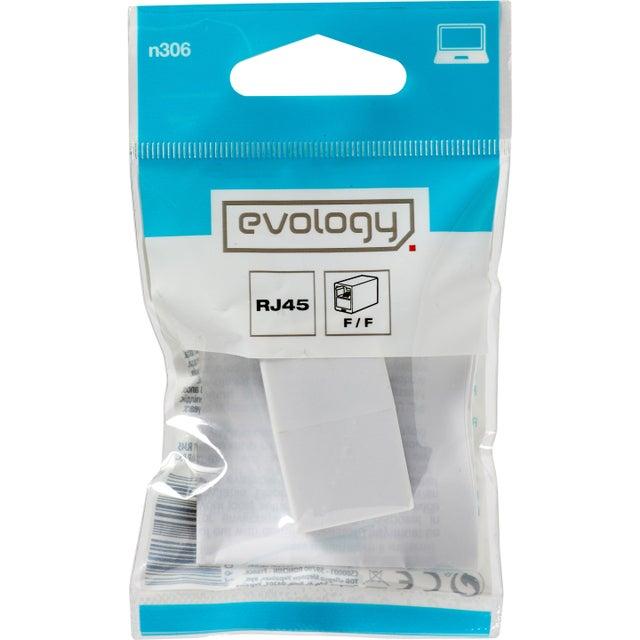 Coupleur Rj45 Femelle Blanc Evology