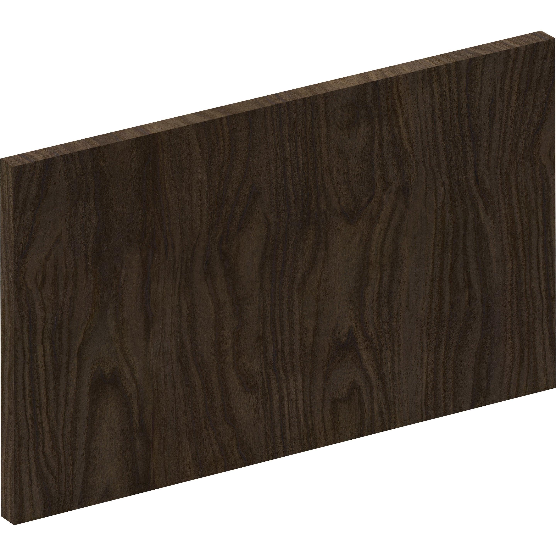 Façade tiroir cuisine Siena effet bois foncé, DELINIA ID H.25.3 x l.44.7 cm