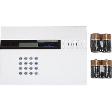Transmetteur téléphonique ligne mobile GSM blanc / noir pour alarme maison EDEN