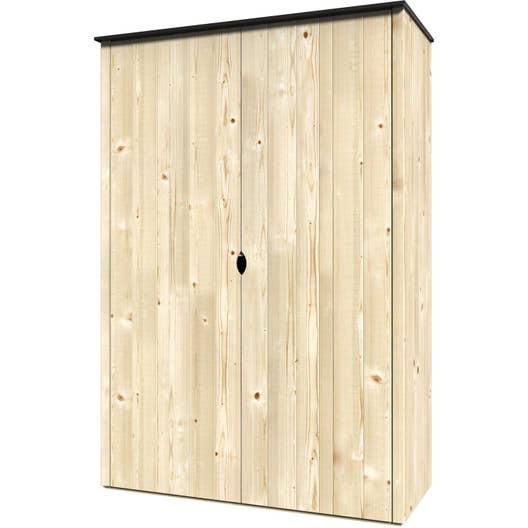 Les Armoires En Bois en ce qui concerne armoire de jardin bois vertigo naturelle, l.120 x h.1.8 x p.56.5 cm