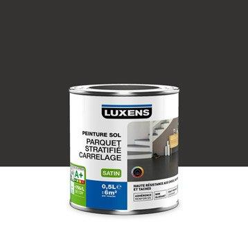 Peinture sol intérieur Haute résistance LUXENS, noir noir n°0, 0.5 l