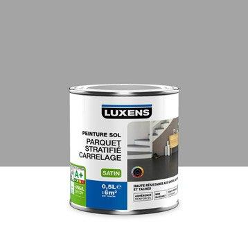 Peinture sol intérieur Haute résistance LUXENS, gris galet n°3, 0.5 l
