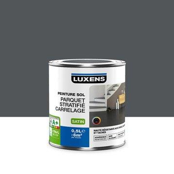 Peinture sol intérieur Haute résistance LUXENS, gris zingué n°1, 0.5 l