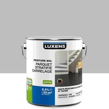 Peinture sol intérieur Haute résistance LUXENS, gris galet n°5, 2.5 l