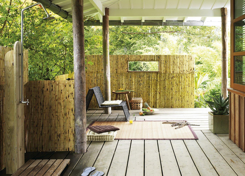 des canisses en bambou pour d corer votre terrasse leroy merlin. Black Bedroom Furniture Sets. Home Design Ideas