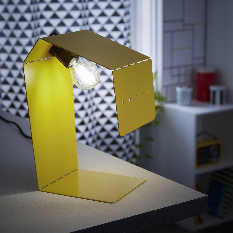Pied de lampe Teruki, métal jaune anis n°4, 61.9 cm, INSPIRE