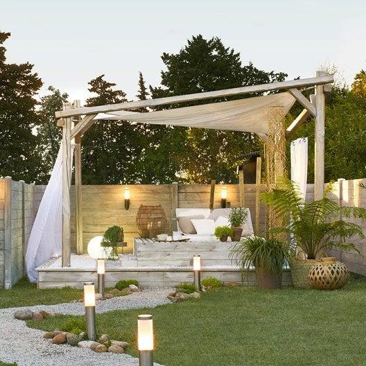 tonnelle autoportante portofino bois gris m. Black Bedroom Furniture Sets. Home Design Ideas