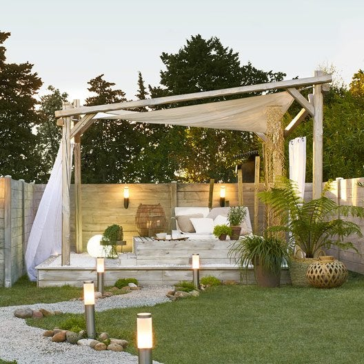 tonnelle pergola toiture de terrasse au meilleur prix leroy merlin. Black Bedroom Furniture Sets. Home Design Ideas