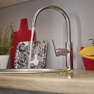 Evier et robinet de cuisine leroy merlin - Changer un plan de travail sans enlever l ancien ...