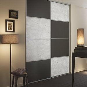 Porte De Placard Et Cloison Standard Et Personnalisable Leroy Merlin - Porte de placard style atelier