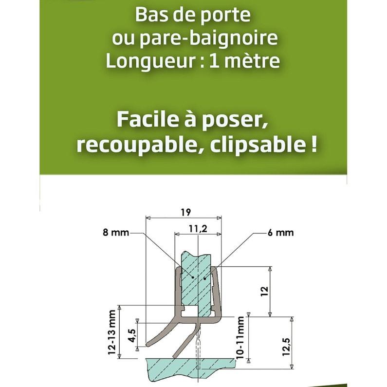 Joint Détanchéité Double Lèvre H25 Cm Translucide Joint De Douche