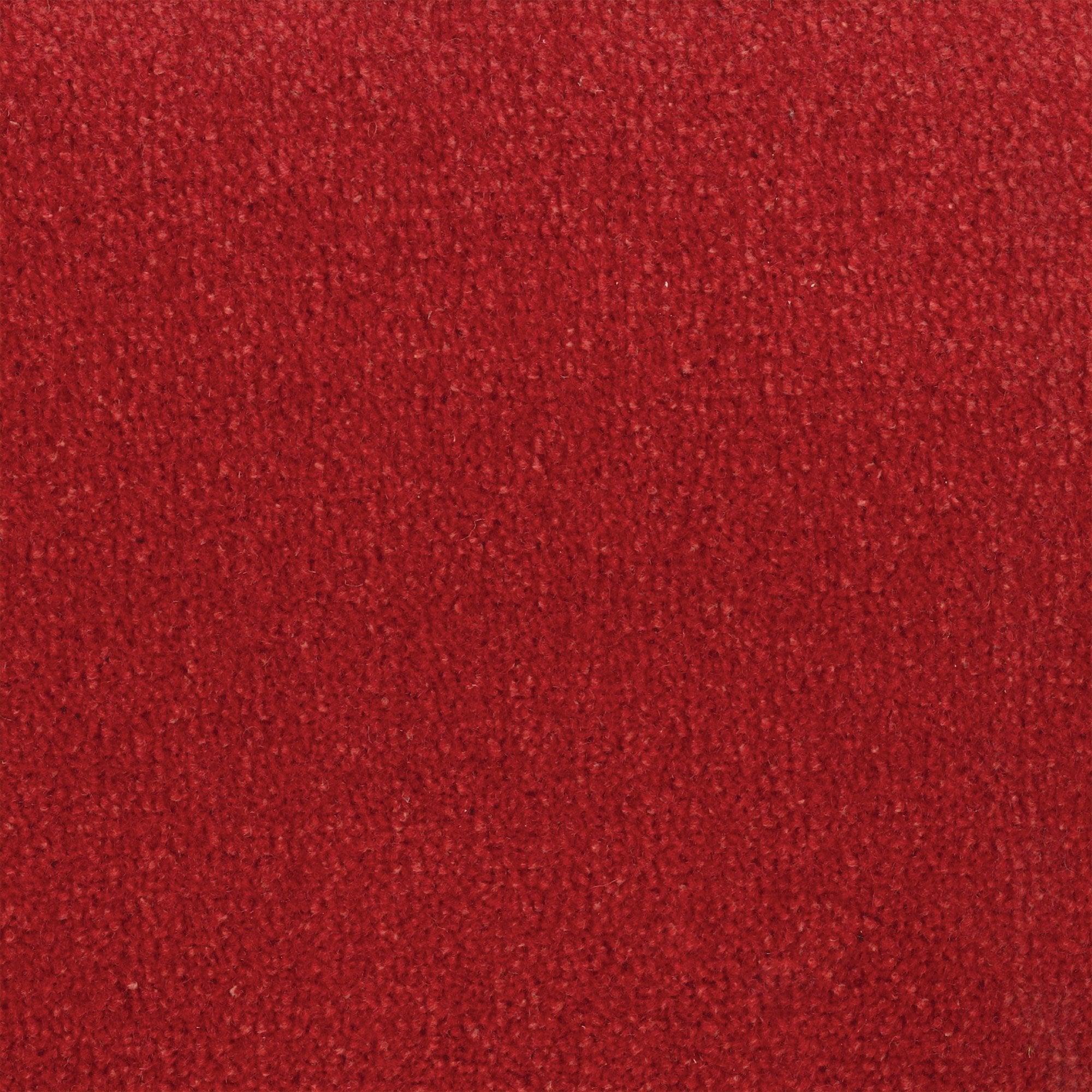 Moquette velours uni rouge, MONTECARLO RASPERRY 10, 4 m