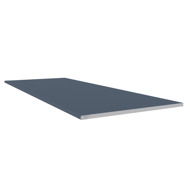 Planche plate pvc freefoam faza solid bleu 3 m leroy for Planche pvc exterieur