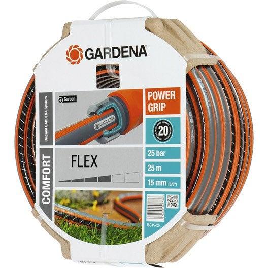 Tuyau d 39 arrosage gardena flex 18045 26 d 15mm l 25m for Lance haute pression pour tuyau d arrosage leroy merlin