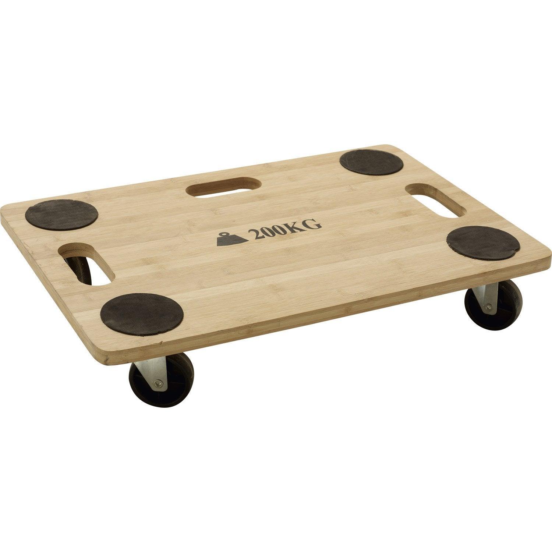 support roulant de manutention bambou leroy merlin. Black Bedroom Furniture Sets. Home Design Ideas