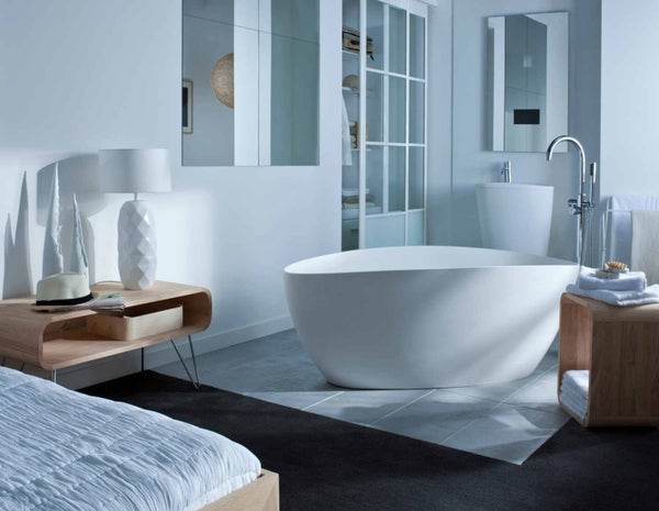 Tout savoir sur la salle de bains ouverte sur la chambre for Cloison salle de bain