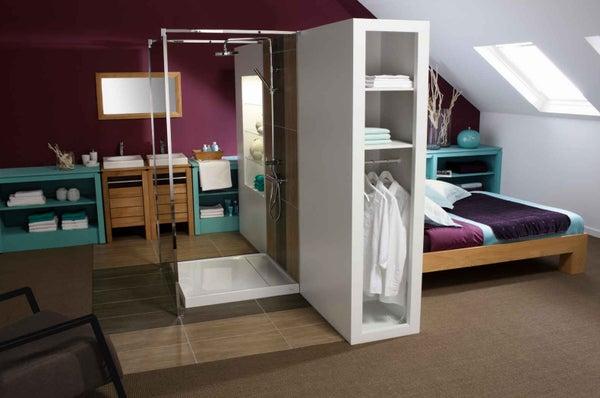 tout savoir sur la salle de bains ouverte sur la chambre. Black Bedroom Furniture Sets. Home Design Ideas