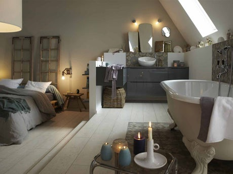 Tout savoir sur la salle de bains ouverte sur la chambre for Chambre avec salle de bain ouverte