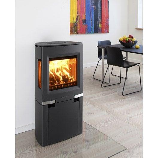 po le bois aduro 13 1 bbc noir 5kw leroy merlin. Black Bedroom Furniture Sets. Home Design Ideas
