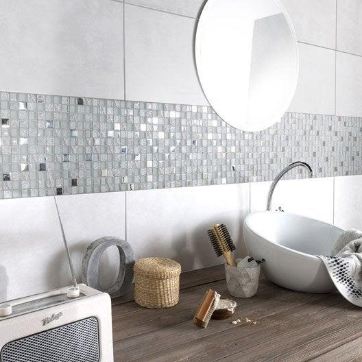 Fa ence mur gris fonc life x cm leroy for Salle de bain carrelage gris fonce