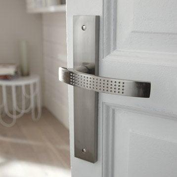 2 poignées de porte Louna sans trou, zinc, 195 mm