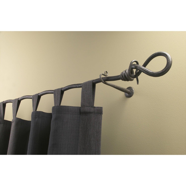 Tringle à rideau Ôthentik anthracite martelé 150 cm | Leroy Merlin