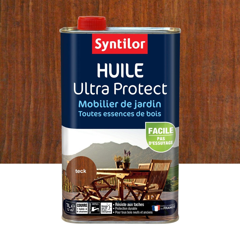 Huile SYNTILOR Ultra protec 1 l, teck   Leroy Merlin