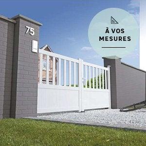 portail coulissant et battant portail bois alu leroy. Black Bedroom Furniture Sets. Home Design Ideas