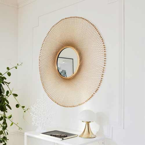 Miroir sejour design miroir fano laque blanc ecran for Miroir sejour design