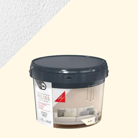 Enduit d coratif reliss 2 en 1 maison deco blanc 15 kg - Peinture sans enduit ...