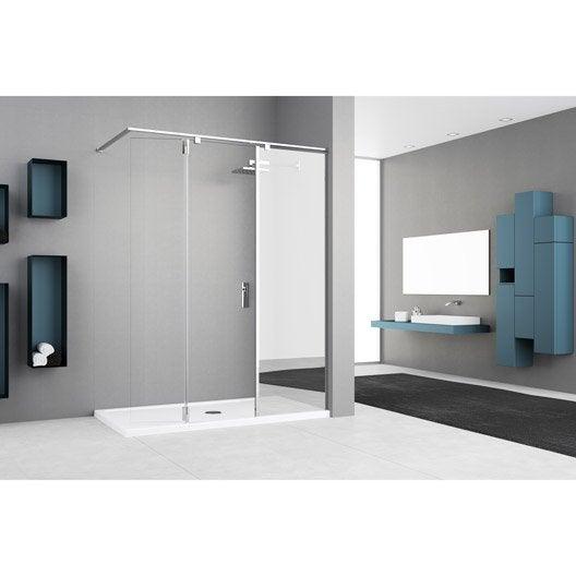 Paroi de douche l 39 italienne au meilleur prix leroy merlin for Verre et miroir
