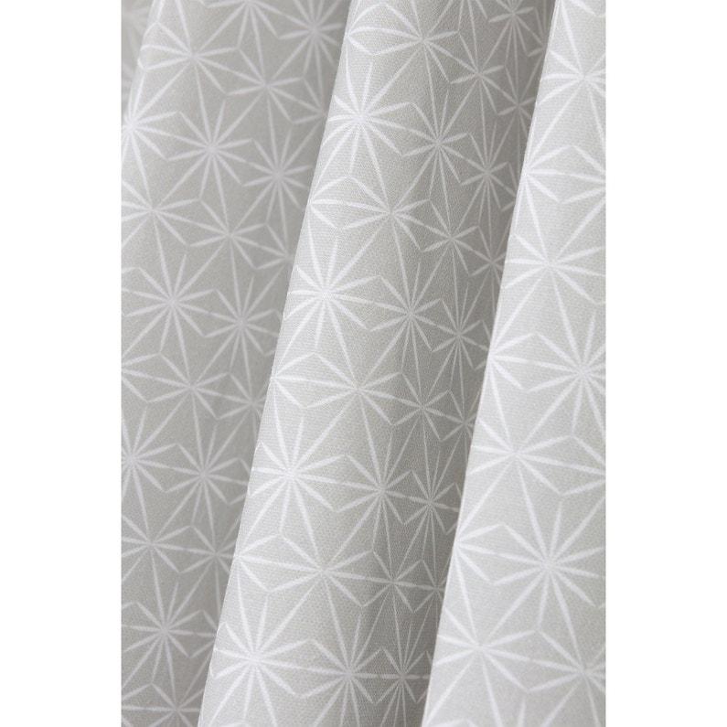 Rideau tamisant, Estrella, gris / blanc, l.140 x H.260 cm | Leroy Merlin