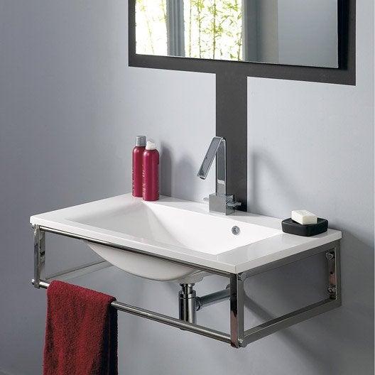 Plan vasque manhattan r sine de synth se 80 cm leroy merlin - Meuble salle de bain 2 vasques leroy merlin ...