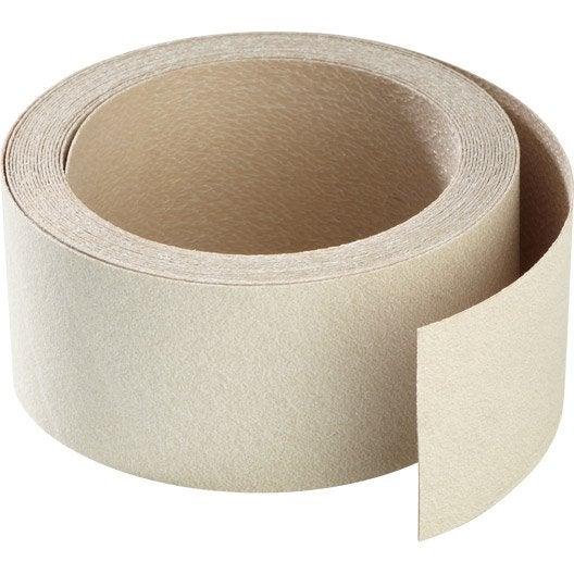 chant de plan de travail stratifi luna cr me mat l 4 5 cm ep 0 5 mm leroy merlin. Black Bedroom Furniture Sets. Home Design Ideas
