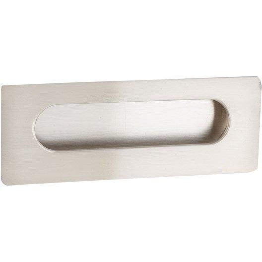 Poign e de meuble rectangle zamak bross entraxe 96 mm leroy merlin - Poignee porte meuble cuisine leroy merlin ...