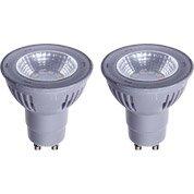 Lot de 2 ampoules réflecteurs LED 5W = 450Lm (équiv 50W) GU1...