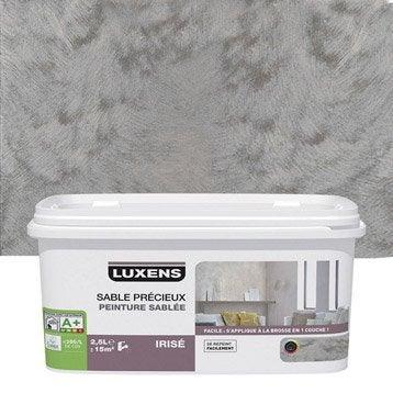 Peinture à effet, Sable précieux LUXENS, gris poivré 4, 2.5 l