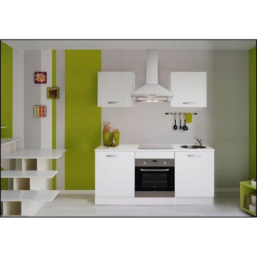 meuble de cuisine blanc leroy merlin. Black Bedroom Furniture Sets. Home Design Ideas