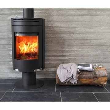 Poêle à bois ADURO 1-5 noir, 6 kW