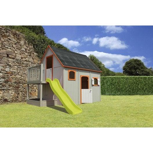 maisonnette bois duplex soulet 6 5 m leroy merlin. Black Bedroom Furniture Sets. Home Design Ideas